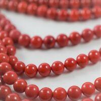 Bambuskoralle rot Perlen Kugeln ca. 7mm Schmuckstein Naturstein Strang ca. 40cm