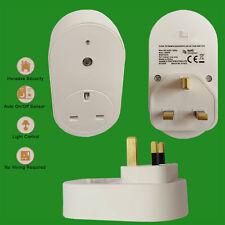 1x Dawn Dusk Photocell Sensor UK Plug-In Security Socket & Winter Summer Switch