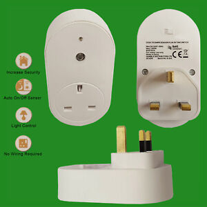 1x Dawn Dusk Photocell Sensor UK Plug-In Security Socket & Winter Summer Switch