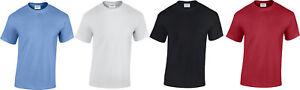 Heavy 100% Cotton New Plain Gildan short sleeved T-shirts - Red Black White Blue