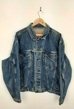 Mens Levi's 75525 4891 Blue Oversize Vintage Denim Trucker Jacket Size XL