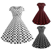 1f9c4baa69e Women Hepburn Style Polka Dot Vintage Rockabilly Evening Party 1950s Swing  Dress