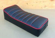 "16"" x 7"" BLACK/RED MINIBIKE SEAT OLD SCHOOL STYLE BOBBER CHOPPER MINI BIKE"