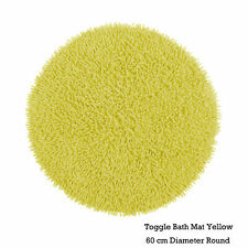 Lemon  100% Cotton Quality Toggle Floor / Bath Mat Round 60cm Diameter