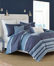 "Nautica Broadwater Cotton/Polyester 18"" Square Decorative Pillow Blue G2447"