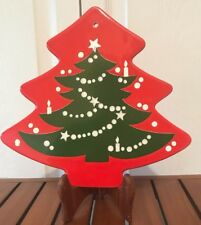 Waechtersbach Germany RED CHRISTMAS TREE TRIVET HOT PLATE WALL HANGING PLAQUE