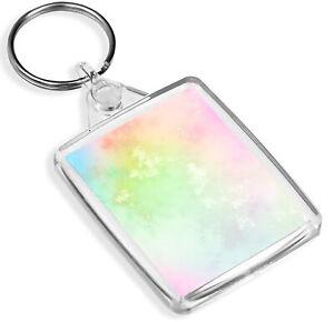 Pretty Rainbow Cloud Keyring Marble Effect Dreamy Keyring Gift #14726