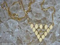 Collier Kette Chain mit Brillanten Diamanten in 750er Gold Länge 47 cm .