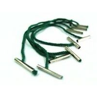 PACK 100 COTTON CORD METAL END TREASURY TAGS 102mm