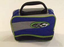 Thermos Insulated Lunchbox, Lunch Bag, Soccer Ball Blue Black