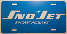 Vintage 70's SnoJet Snowmobile Logo Novelty License Plate