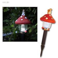 """solaire LED Lampe À de jardin Lanterne """"Tue-mouches"""", éclairage allée chemin"""