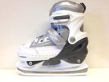 Cantop Retro silber Schlittschuh Ice Skates  34-37 weiß verstellbar - Kinder