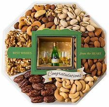 LARGE 6 Sectioned Congratulations Gourmet Food Gift Basket – Contains a Fine