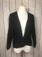 Valette Womens Cable Knit Open Front Cardigan Size Small Chunky Knit Sweater