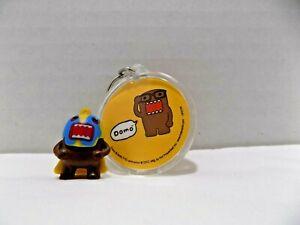 Lot 2 Domo Kun Plastic Miniature Figure + Key chain Keychain w Acrylic Disc Domo