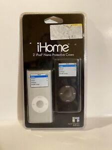 iHome protective cases for 2nd Generation iPod Nano - Clear/Black