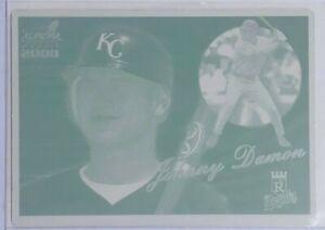 1/1 SET LOT JOHNNY DAMON 2000 PACIFIC AURORA CARD #68 PRINTING PLATES KC ROYALS