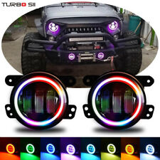 RECON JEEP JK WRANGLER Clear RGB  LED FOG LIGHTS 07-15 PART# 264506CL Double