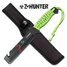 Zombie Z Hunter Apocalypse Saw Guthook Machete Slayer Knife Green Survival 023