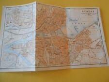 Plan de Genève Suisse Schweiz 1920