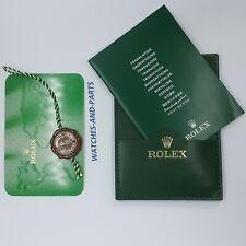 Rolex Green Watch Wallet 30.01.34 565.01 Tag Calendar Card GENUINE NEW ORIGINAL