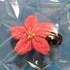 F/S Japanese Mini Hair Clip Cherry blossom Chirimen Weave Crepe Pink Kyoto Japan