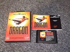 Original juego de Sega Mega Drive-Dragon-Completo-Probado