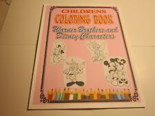 """Kids Coloring Book-Looney Tunes & Disney cartoon characters-8.5""""W x 11""""L-Soft Co"""