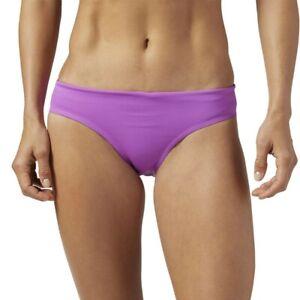 Reebok CrossFit Women's Violet Performance Drawcord Swim Brief Bottoms BS1852