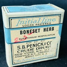 S.B. Penick Co. Boneset Herb CRUDE DRUGS NEW YORK Herb Medicine Box Full sealed