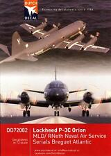 Dutch Decals 1/72 LOCKHEED P-3C ORION & BREGUET ATLANTIC Netherlands Navy
