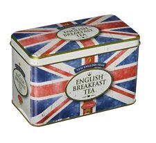 Nouveau Anglais Thé Style Vintage Union Jack Tin 40 petit déjeuner anglais inter...