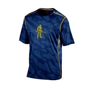 WEST VIRGINIA MOUNTAINEERS NCAA Boy's Performance Short Sleeve Shirt BLUE Small