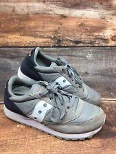 Women's Saucony Jazz Original Comfort Walking Running Shoes Grey Navy Size 8.5