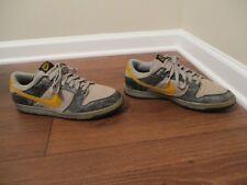 2004 Used Worn Size 10 Nike Dunk Low LTD Shoes Black, Gold Leaf, Gray 307734 071