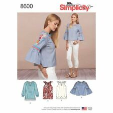 SIMPLICITY 8600 MISSES SZ 6-14 TOPS W/SLEEVE & LENGTH VARIATIONS SEWING PATTERN