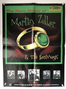 Vtg 1998 RARE Many Moods of Martin Zellar & Hardways PROMO POSTER-Gear Daddies