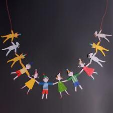 Kids Hand in Hand Banner Paper Garland Hanging Bunting Party DIY Decor Tool kim