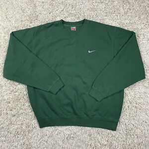 Vintage NIKE Team Men's Side Swoosh Green Travis Scott Crewneck Sweatshirt XL