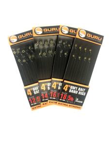 "Guru QM1 4"" Method Hair Rigs With Bait Bands"