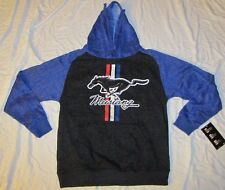 MENS SWEATSHIRT SMALL 34/36 HOODIE HOODED PULLOVER FORD MUSTANG CAR MUSCLE SM!!!