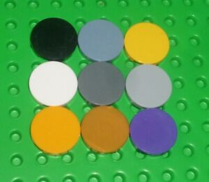 LEGO - TILE, Round 2 x 2 with Bottom Stud Holder, choose colour & qty (14769) Y4