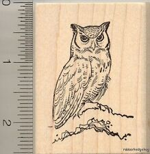 Great Horned Owl rubber stamp H11403 WM wildlife bird