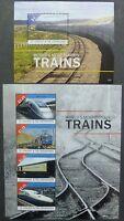 St. Vincent 2013 Eisenbahn Trains Railways Lokomotiven Orient-Express TGV MNH