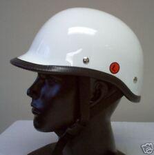 Polo Gloss White Motorcycle Novelty Biker Helmet Small