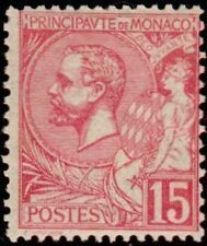 "MONACO N° 15 ""ALBERT 1er  15 C ROSE"" NEUF X TB"