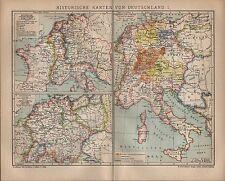 Landkarte map 1901: HISTORISCHE KARTEN DEUTSCHLAND. I. Zur Zeit der Karolinger.