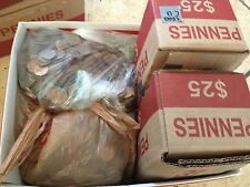 $25 Worth in US Copper Pennies, Machine Sorted 1959-1982 +Few Wheat Backs.17 LBS