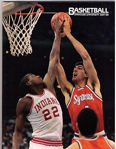 1987-88 SU Syracuse Orangemen University NCAA basketball program champs